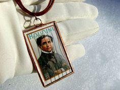 Houdini Harry Vintage Halloween Postage Stamp by GothicGlassStudio