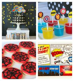 Superhero Themed Birthday Party via Kara's Party Ideas KarasPartyIdeas.com Cake, decor, favors, printables, tutorials, and more! #supehero #superheroparty #supeheropartyideas (1)