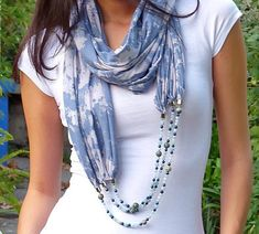 In Style-m: Add Glamour with Scarf Necklaces