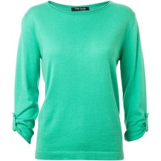 Betty Barclay Back Button Jumper, Green found on Polyvore