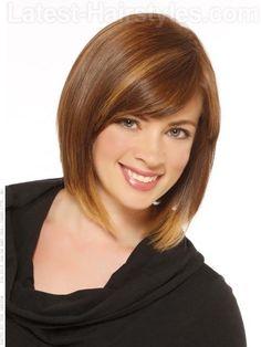 Highlighted Long Bob Haircut for Women