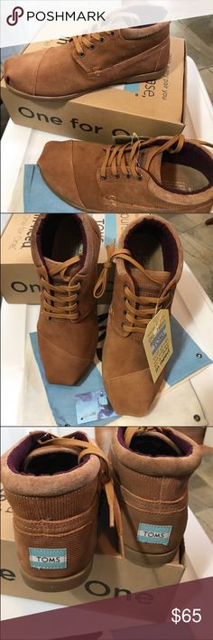 Toms brown botas boots NWT men's size 12 Toms brown botas boots NWT men's size 12. In Box. Toms Shoes