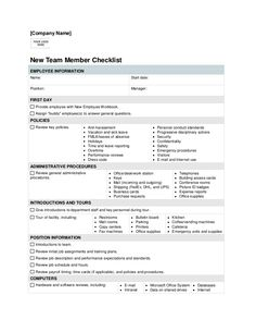 new hire checklist excel
