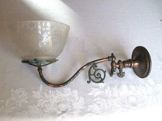 8 best victorian wall sconces lighting images on pinterest victorian glass lamp shades on antique victorian japanned gas light sconce fixture wall lamp acid aloadofball Image collections