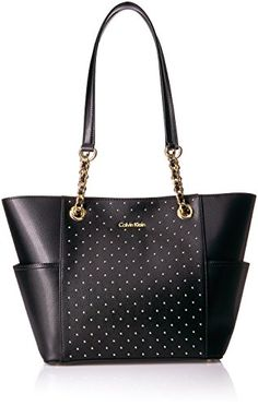 Calvin Klein Key Item Studded Chain Tote >>> For more information, visit image link. (This is an affiliate link) Fashion Handbags, Purses And Handbags, Leather Purses, Leather Handbags, Girls Short Haircuts, Short Hairstyles, Calvin Klein Handbags, Satchel, Kate Spade