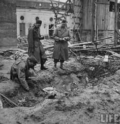 the ditch were the corpses of Hitler and Eva Braun were believed to have been burned after their suicides