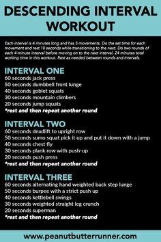 Last Week's Eats & Workouts + A Descending Interval Workout Absteigendes Intervalltraining Group Fitness, Fitness Tips, Fitness Motivation, Workout Fitness, Fitness Exercises, Fitness Classes, Fitness Plan, Workout Exercises, Physical Fitness
