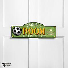soccer bedrooms   Soccer Kids Room Sign - Personalized