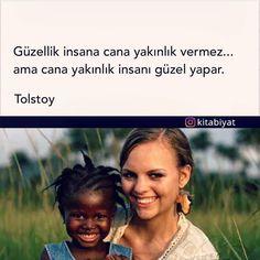 Güzellik insana cana yakınlık vermez... Ama cana yakınlık insanı güzel yapar. - Tolstoy (Kaynak: Instagram - kitabiyat) #sözler #anlamlısözler #güzelsözler #manalısözler #özlüsözler #alıntı #alıntılar #alıntıdır #alıntısözler #şiir #edebiyat
