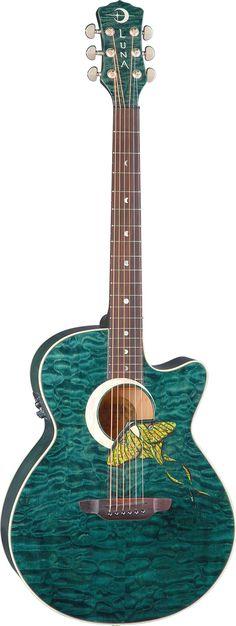 Luna Guitars - Fauna Luna Moth acoustic electric