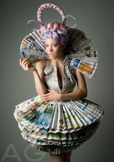 Recycled paper dress