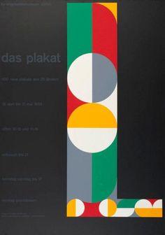Gottfried Honegger-Lavater, L - Das Plakat - 400 neue Plakate aus 25 Ländern. Kunstgewerbemuseum Zürich, 1953