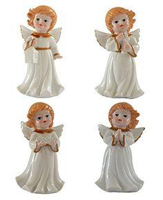 Sculpture: Gift Garden Cherub Statue Baby Sculpture Figurine 4Pcs Set