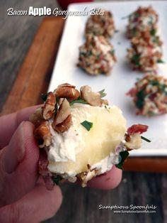 Bacon Apple Gorgonzola Bites ~ Sumptuous Spoonfuls #holiday #appetizer #recipe