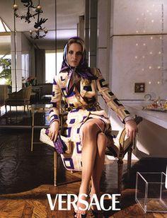 Amber Valletta. Versace ad campaign. 2000.