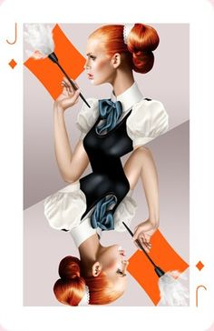 Search all portfolios by artist name or keywords. Play Your Cards Right, Playing Cards Art, Hair Scarf Styles, Trends Magazine, Graphic Design Layouts, Two Faces, Scarf Hairstyles, Pin Up Art, Deck Of Cards