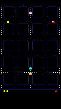 PAC man iPhone 5 app skins wallpaper