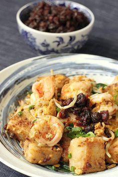 Dim sum at home with Hong-Kong Style Radish Cake w/ Seafood & XO Sauce