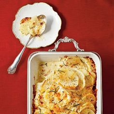 Fennel-and-Potato Gratin gets a punch of flavor from nutmeg and fennel. This cheesy potato gratin is impressive enough for a holiday party, but it's