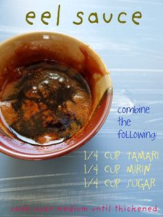 Easy Sushi Eel Sauce with a sushi recipe