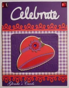 Glenda's Cards: Birthday Card for a Red Hat Lady
