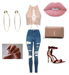 """""""✨✨✨✨"""" by larissa-coimbra on Polyvore featuring Gianvito Rossi, Bebe, Topshop, Yves Saint Laurent e Lime Crime"""