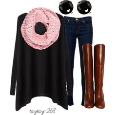 """""""black and pink"""" by taytay-268 on Polyvore"""
