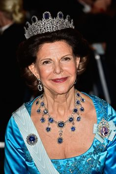 Queen Silvia of Sweden attends the Nobel Prize Banquet 2014 at Concert Hall on December 10, 2014 in Stockholm, Sweden.