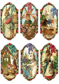 Details about 12 handgift tags easter vintage scrapbook images 24 easter 32 scrapbook paper crafts hang gift tags ebay negle Images