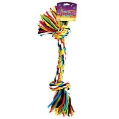 ASSORTED 14 INCH FABRIC KNOTTED ROPE DOG TOY - BD Luxe Dogs & Supplies