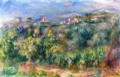 Pierre Auguste Renoir Landscape Of Provence, Cagnes oil painting reproductions for sale
