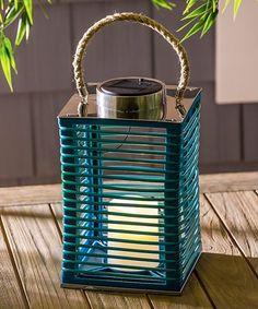 Look what I found on #zulily! Blue Modern Solar Lantern #zulilyfinds