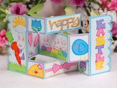 Paper Creations by Kristin: Happy Easter Tri-fold Card.  Love this!  My Scrap Chick cutting files