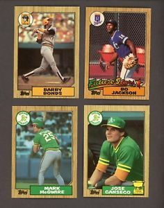 1987 Topps Tiffany Baseball Complete Set W Barry Bonds Mcgwire Bo