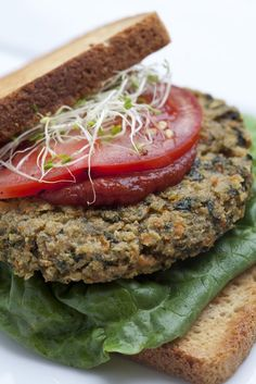 Alkaline-Grain Veggie Burgers Recipe... All Veggie! No beans or starches_Try substituting ground hemp for millet