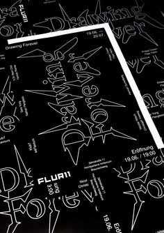 """Poster promoting the exhibition """"Drawing Forever"""" at FLUR11. Featuring RT Paelzer Grot Medium and a customized version of RT Gaia. © Max Weinland 2014"""