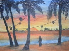 Julie Is Creating: Solitude in Sunset (watercolor pencil and marker) Watercolor Sunset, Watercolor Pencils, Solitude, Marker, Arts And Crafts, Painting, Markers, Painting Art, Paintings