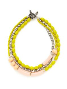 Yellow & Pink Bead Multi Strand Necklace by Tova on Gilt.com