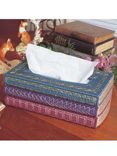 Tissue Books  Technique - Plastic Canvas