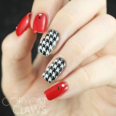 Houndstooth Nail Stamping