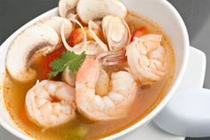 Spicy Shrimp Soup, Homemade Soup Recipes. Dukan Diet