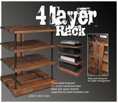 Wooden Audio Rack Woodworking smokehouse plans pdf