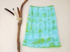 SEA SIREN . women's tie dye skirt . plus size 18 by bohemianbabes