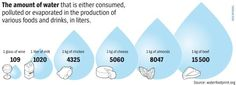 Graphic: Water used in food and beverage products
