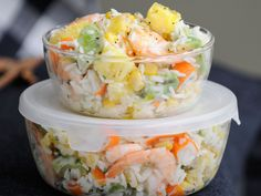 Découvrez la recette Salade hawaienne sur cuisineactuelle.fr.