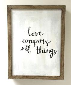 todas las conquista Cita Palabras genial El amor moderna Caligrafía enmarcada cosas bonitas wtSnfE