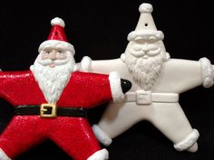 Santa Ornament - Ready To Paint Ceramic Bisque. $14.00, via Etsy.