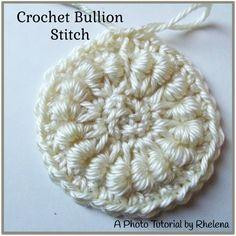 Crochet Bullion Stitch ~ A Photo Tutorial