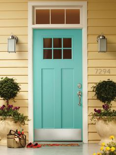 Landscape and garden designers open up about bold and beautiful front door colors for homes of all styles.