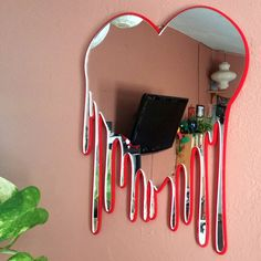 Heart Wall Art Mirror Bleeding Heart Wall Art Heart Wall Decor Mirror Decorative Wall Art Heart Art Bleeding Heart Mirror Wall Decor - The Effective Pictures We Offer You About diy A quality picture can tell you many things. Heart Wall Decor, Heart Wall Art, My Room, Dorm Room, Heart Mirror, Mirror Wall Art, Diy Mirror, Mirror House, Cute Room Decor